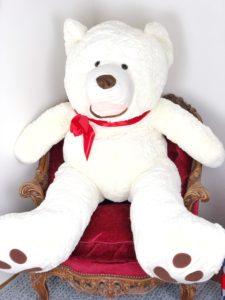 luxury white teddy bear