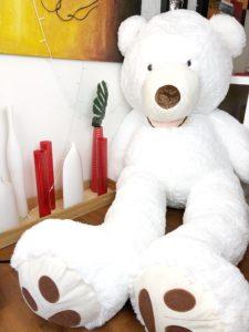 giant white teddy bear