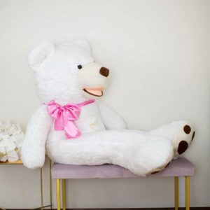giant white teddy bear